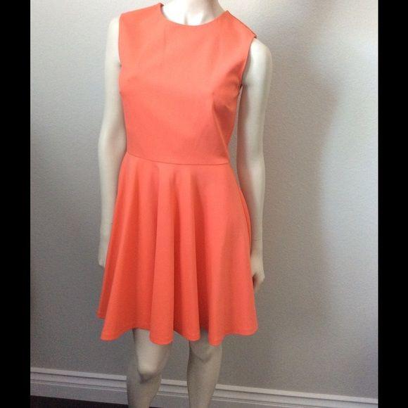 DVF Diane von Furstenberg Orange Jeannie dress Fit and flare style. Fully lined! Diane von Furstenberg Dresses