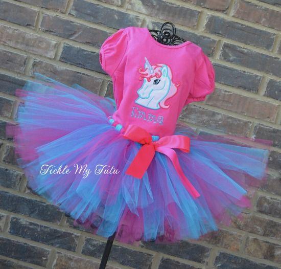 Enchanted Unicorn Birthday Tutu Outfit