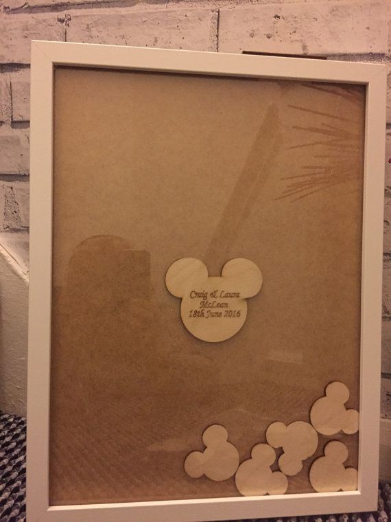 Mickey Minnie Mouse Disney Drop Top Guestbook Package Heart Slot Guest Book 100 X Tokens