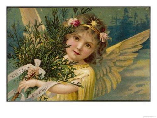 Hiver et Noel cartes postales et images anciennes | Anges de noël
