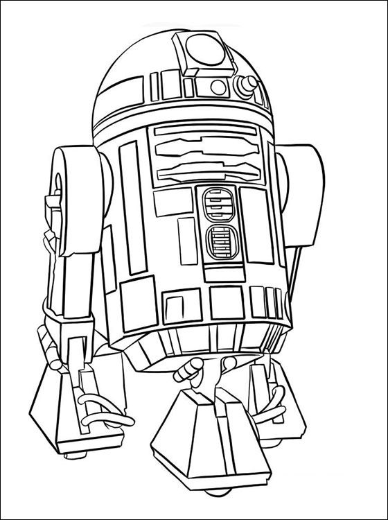 Star Wars R2 D2 Coloring Page Coloring Pages Glass
