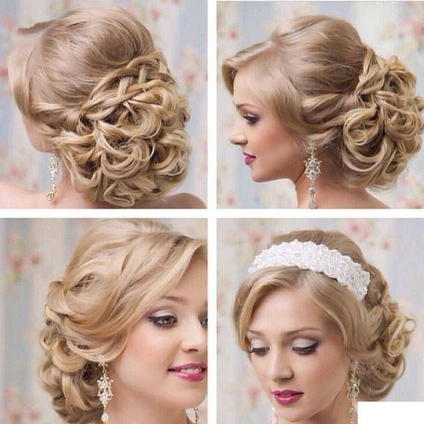 Wedding Hairstyle For Chubby Face: Bridal Hairstyle For Round Face Ideas (2)