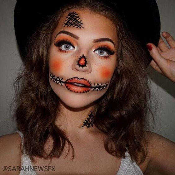 43 Easy Halloween Costumes Using Only Makeup | StayGlam