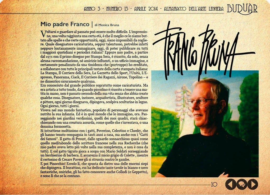 Blog à porter - Il Magazine di Monica Bruna: BUDUAR - UN RICORDO DI FRANCO BRUNA