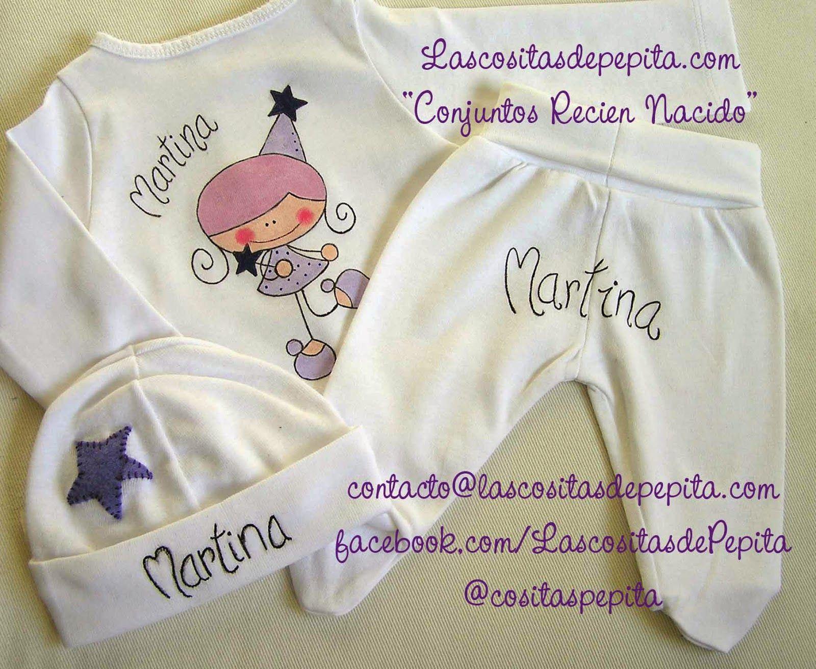 Las cositas de Pepita: Pijamas para bebes pintados a mano   Венок ...