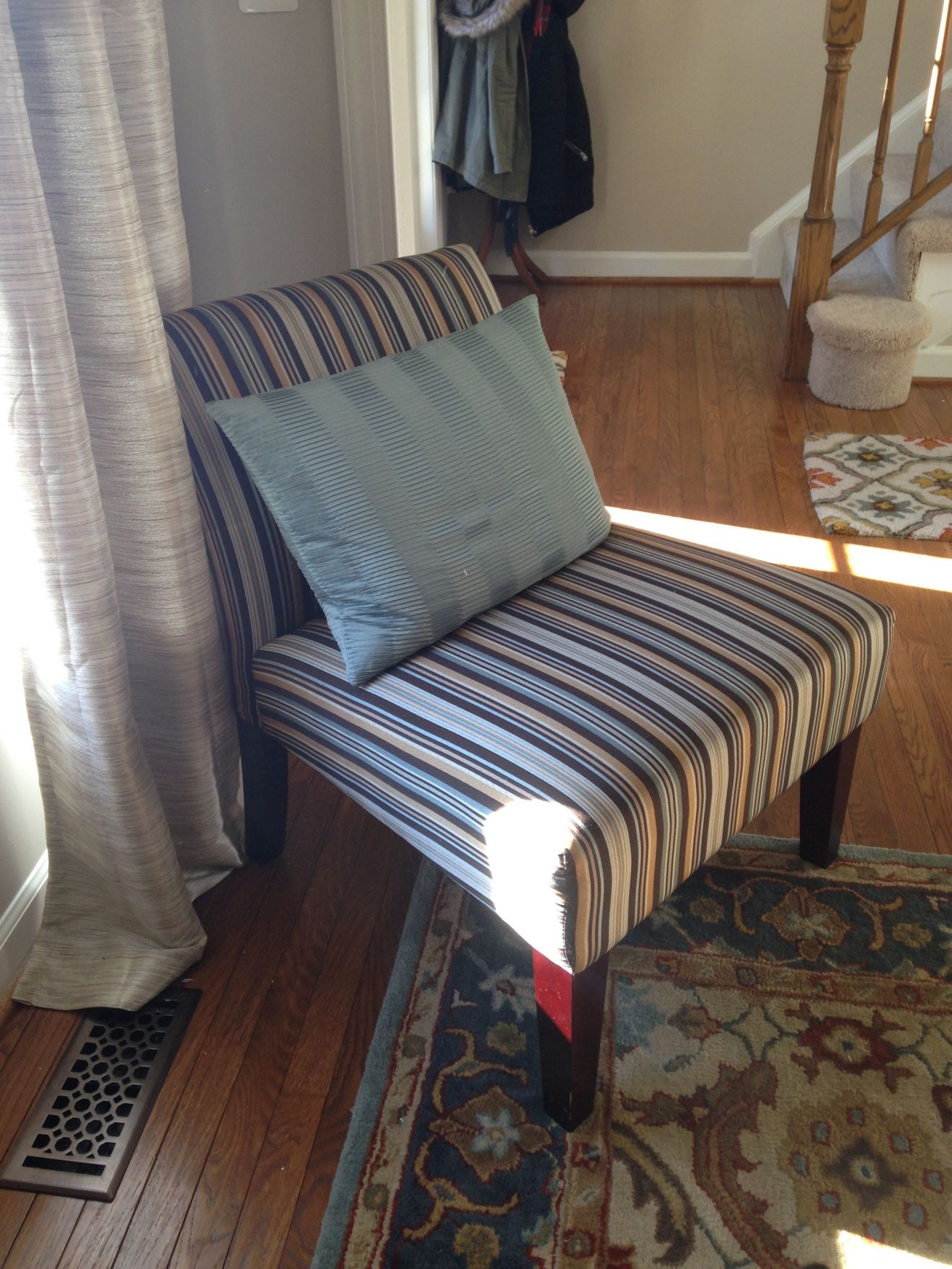 Project Reupholstering a Target Slipper Chair