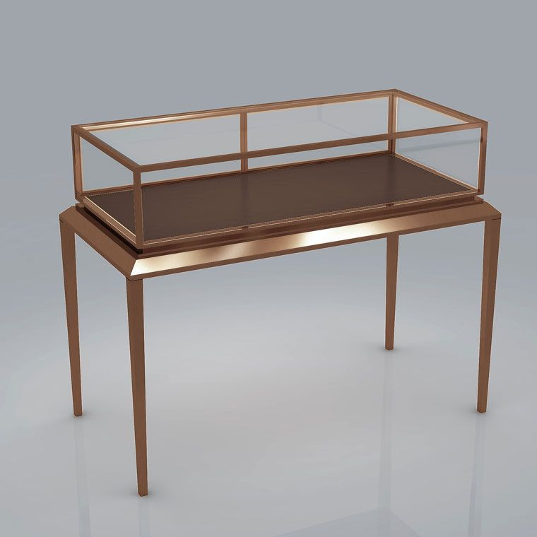 Jewelry display cases glass cabinets retail design for Showcase table design