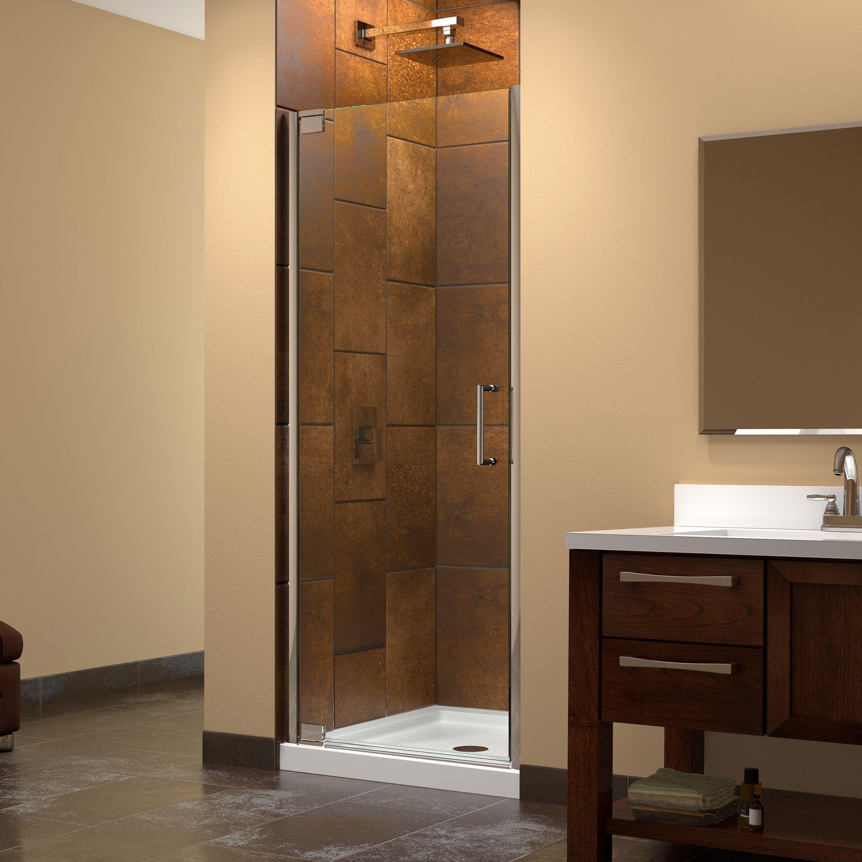 Dreamline Elegance 25 1 4 27 1 4 In W X 72 In H Frameless Pivot Shower Door 25 25 27 25 W Shower Doors Frameless Shower Doors Frameless Shower