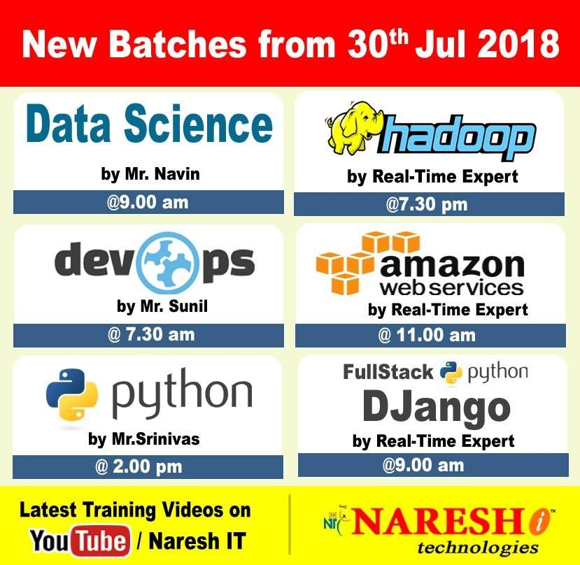 Attend classes new batches are starting by realtime