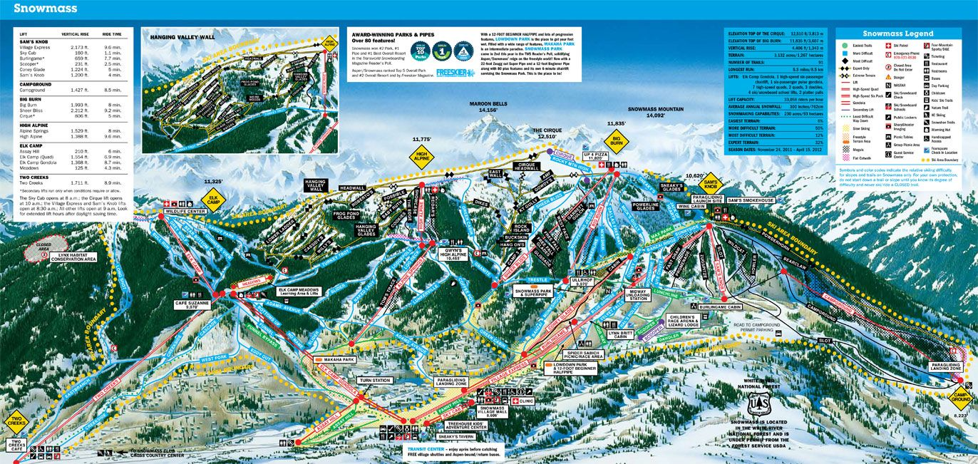Mountain Maps Check Out Our Site For More Aspen Ski Info And Rentals Http Www Aspendiscountskitickets Com Trail Maps Snowmass Aspen Snowmass