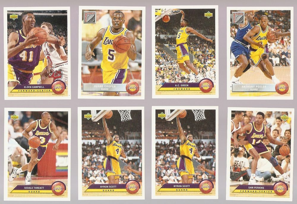 Details about 199293 los angeles lakers upper deck