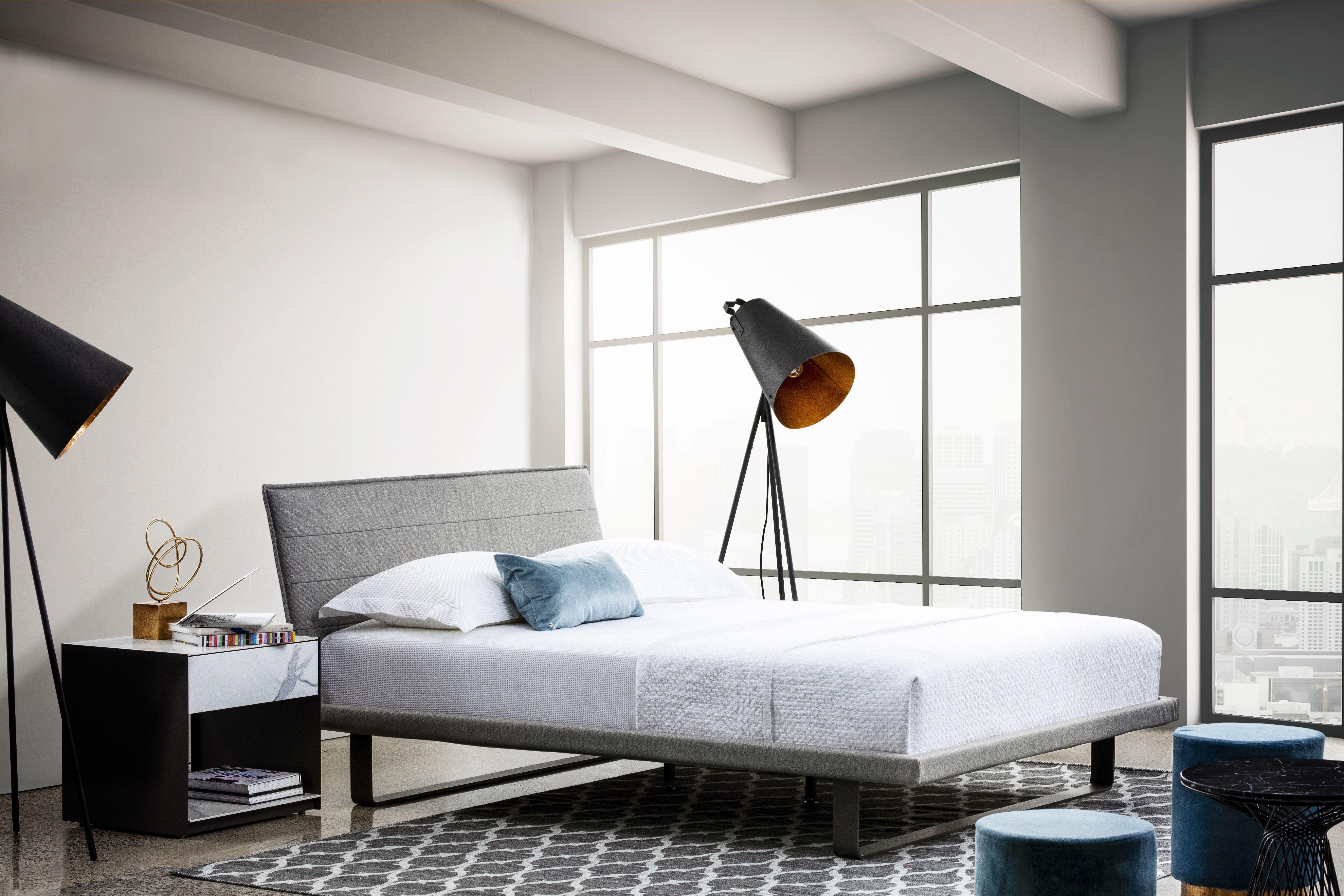Envy lit upholstered beds bed bed frame
