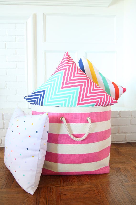 adorable, brightly colored pillows