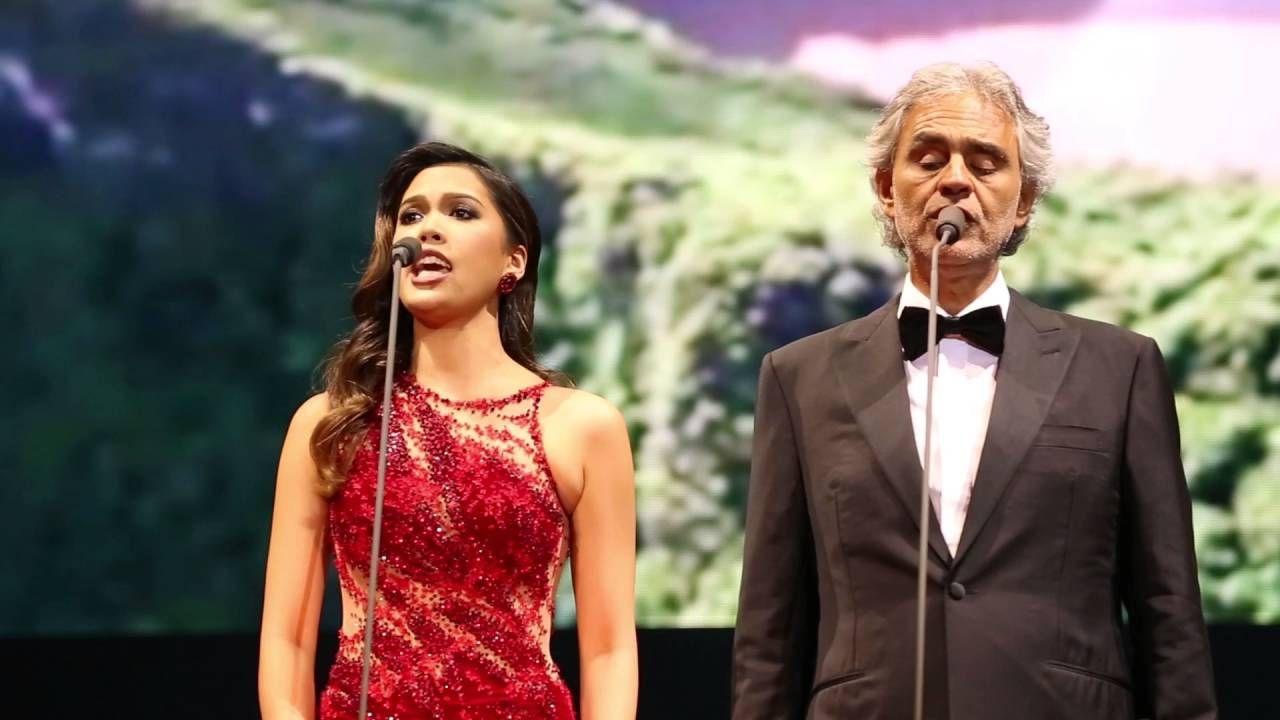 Andrea Bocelli Christine Allado Canto Della Terra Cinema