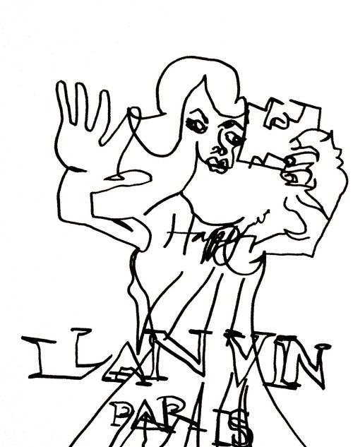 belle BRUT sketchbook: #lanvin #happy #fashion #style #illustration #blindcontour © belle BRUT 2014 http://bellebrut.tumblr.com/post/93745477150/belle-brut-sketchbook-lanvin-fashion-style