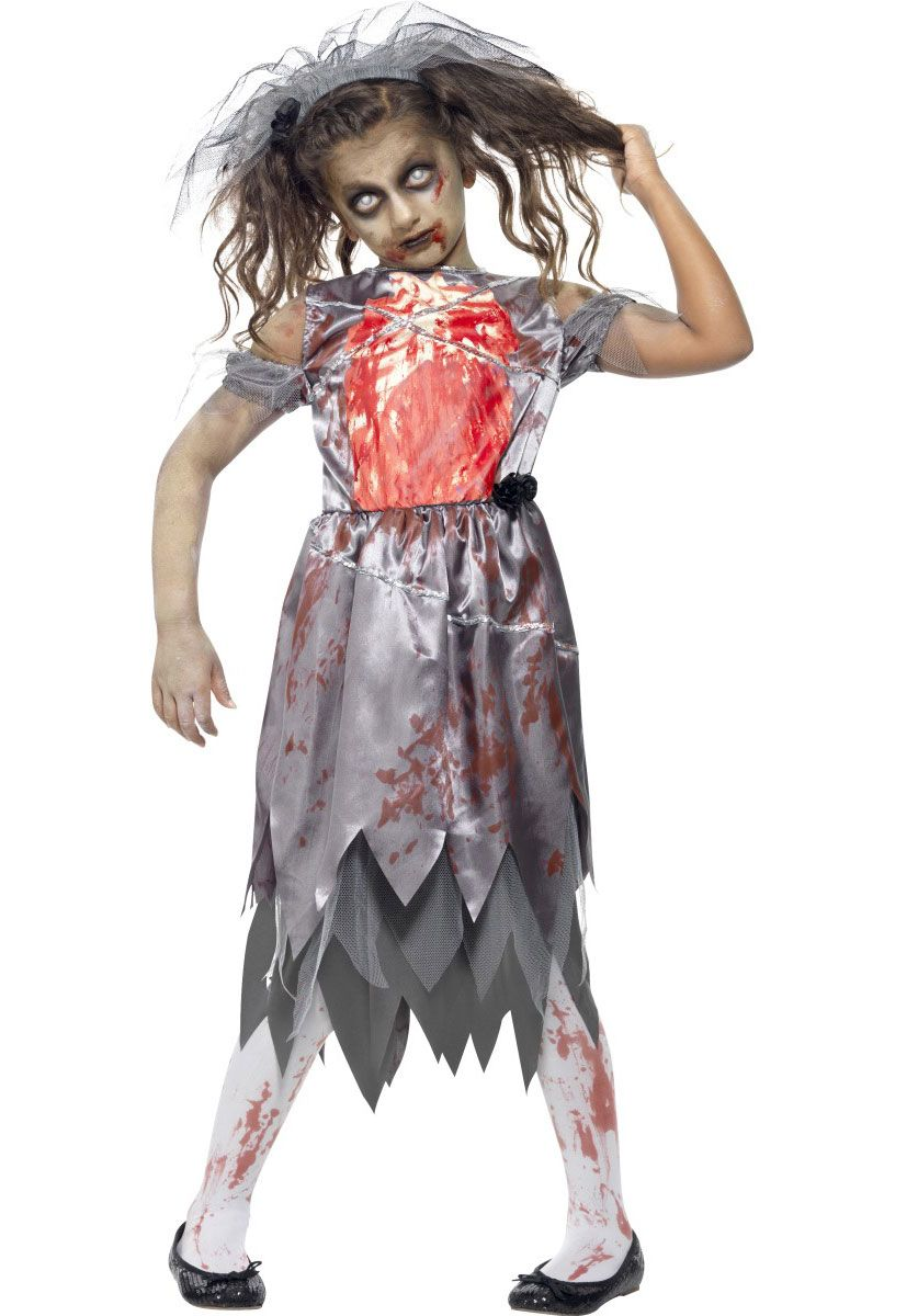 a9a4ae5f645863 Zombie Bride Bloody Costume, Child   Zombies!   Halloween, Halloween ...