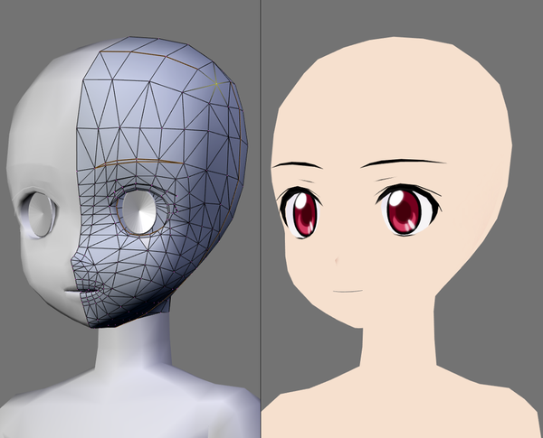 zbrush anime face: Red Eyes, 3d And Anime