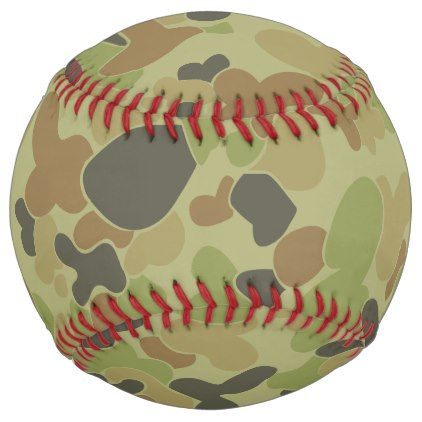 Aus Green Camouflage Softball Home Gifts Ideas Decor Special Unique Custom Individual Customized Individualized
