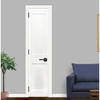 Creativeentryways Shaker 2 Panel Prime Solid Panelled Wood Prehung Interior Standard Door D With Images Prehung Interior Doors Sliding Mirror Closet Doors Glass Barn Doors