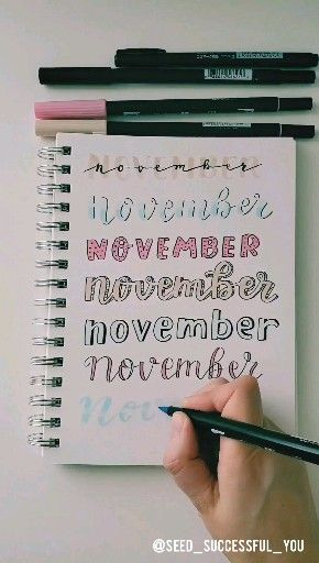 November Bullet Journal header ideas. ️