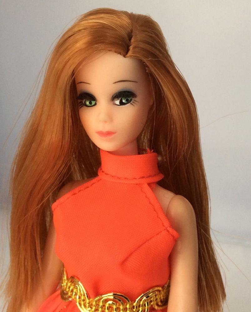 Gold /& Green Longlocks Dress Only Dawn Doll Orange