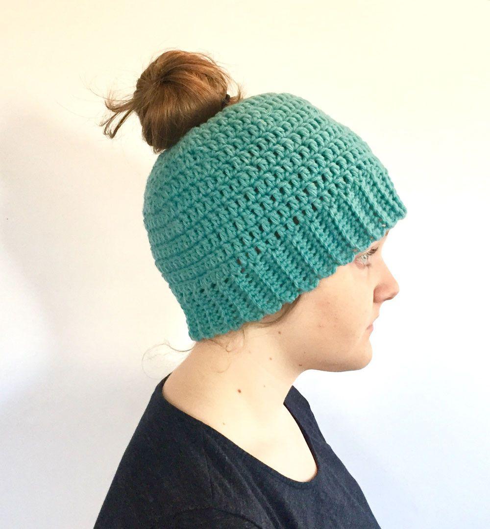 Messy Bun Hat Beautiful Messy Bun Hat Crochet Pattern by Little Monkeys Design Of Awesome 43 ... #kidsmessyhats