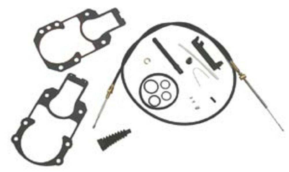 MERCRUISER ALPHA / GEN II LOWER SHIFT CABLE KIT WITH BELLOWS