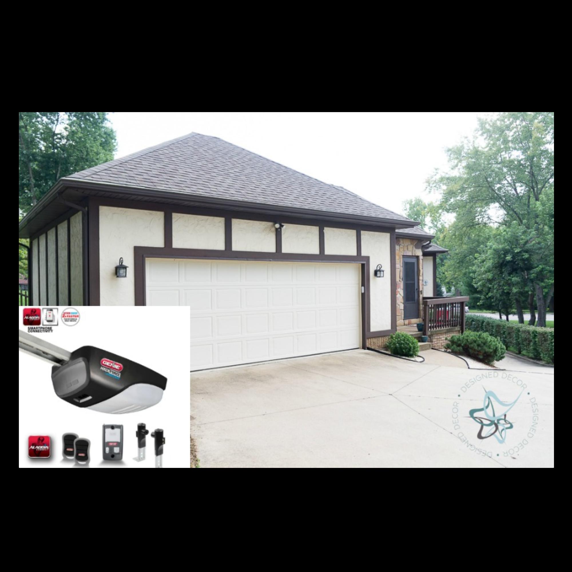 Genie Garage Door Opener With Smartphone App That Makes Life Easier Smartdevice Take Command With An Aladdin Conn Garage Door Opener Garage Doors Door Opener