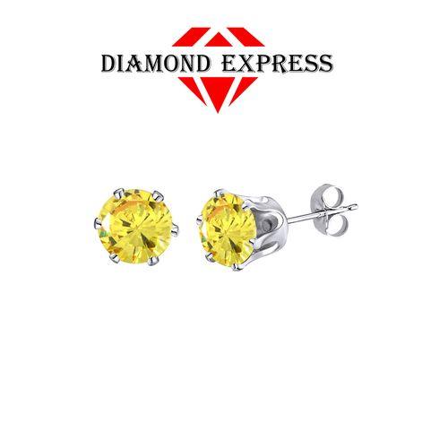 Fine Jewelry 14K Gold 8mm Stud Earrings zwM4k