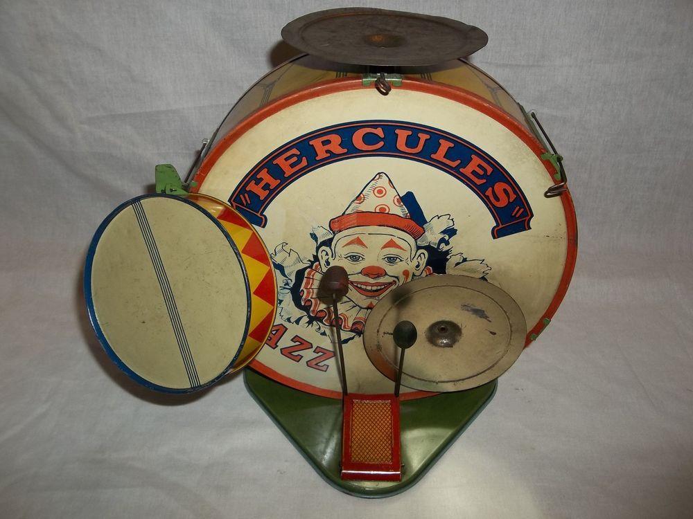 Rare Vintage 1920 S Old J Chein Co Hercules Jazz Band Drum Set
