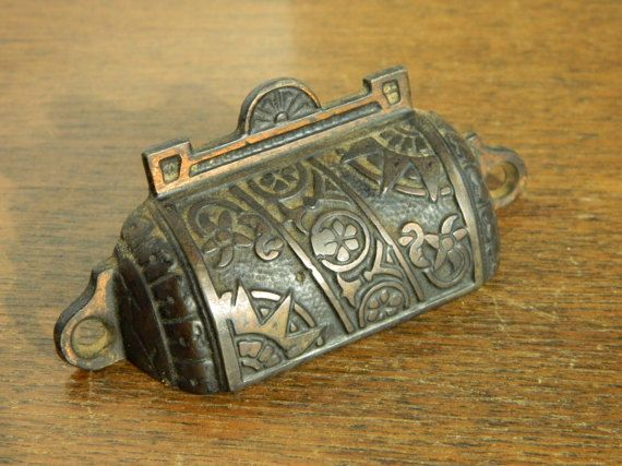 eastlake pulls apothecary pull antique drawer pulls cast iron bin pulls drawer