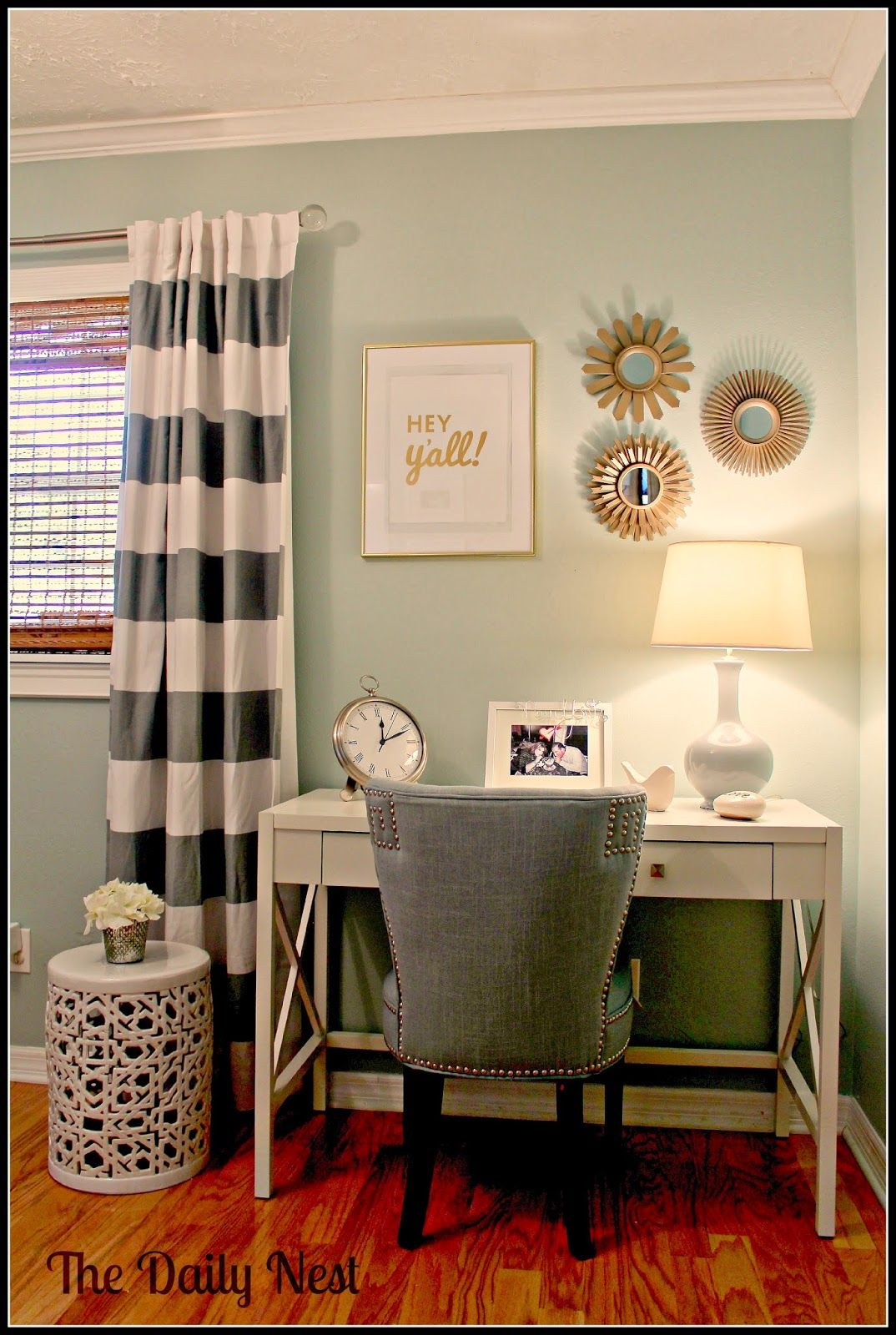 Palladian Blue with warm light brings out the green. | Home ...