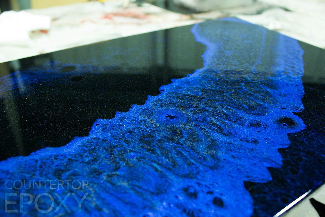 Epoxy Sample Board Done By A Student During Our Epoxy Resin
