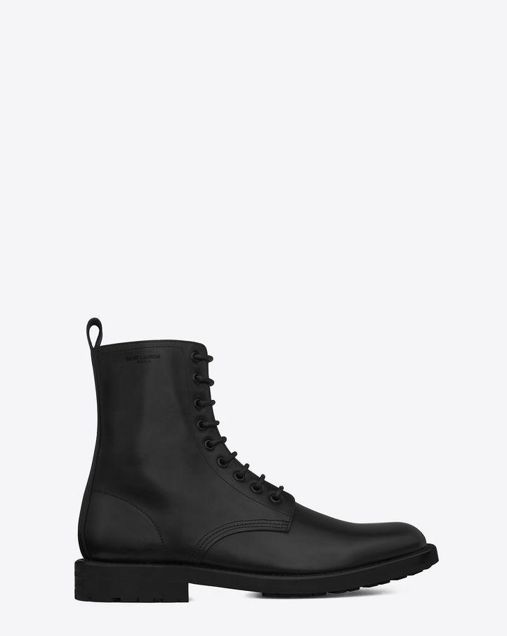 dd6bdcd2df saintlaurent, CLASSIC RANGERS 25 BOOT IN BLACK LEATHER | Footwear ...