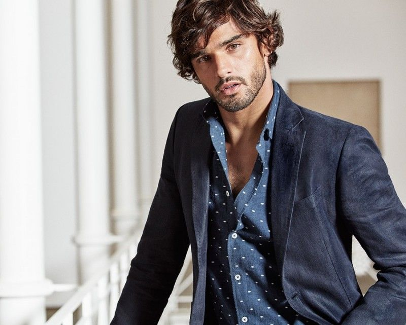 Marlon Teixeira Dons Tailored Suiting for Massimo Dutti