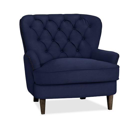 Cardiff Tufted Upholstered Armchair | Armchair ...