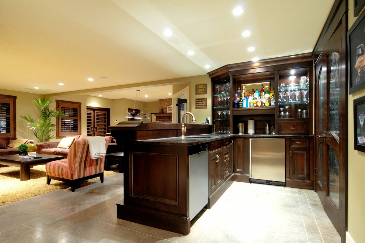 Basement Bar Design Ideas 22 finished basement contemporary design ideas 2 Home Bar Room Designs