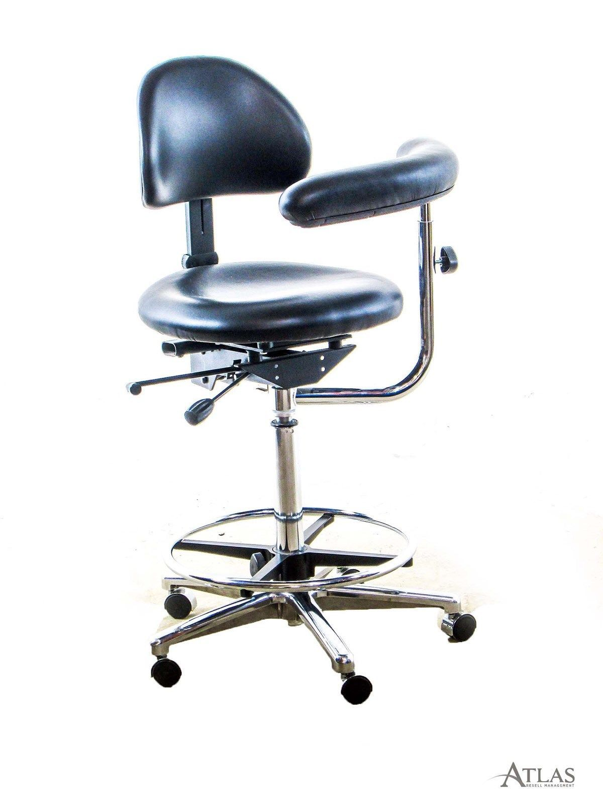 Dental assistant chairs - Productive Practices Dental Assistant Stool W Black Ultraleather Upholstery Black Ultraleather Upholstery