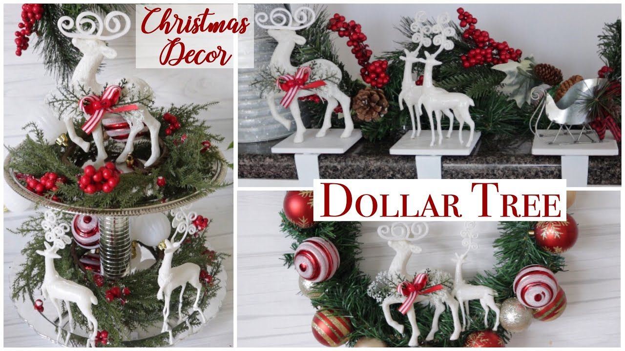 Dollar Tree Diy Christmas Decor Youtube Dollar Tree