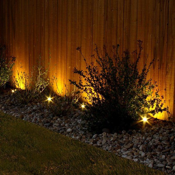 5 Unique Residential Landscape Lighting Design Ideas: Garden Fence Decorative Lighting Outdoor Lighting Ideas