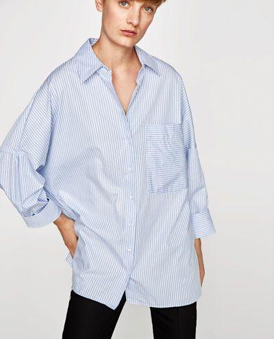 3780b2920b Image 2 of OVERSIZED STRIPED SHIRT from Zara   <3   Oversized ...