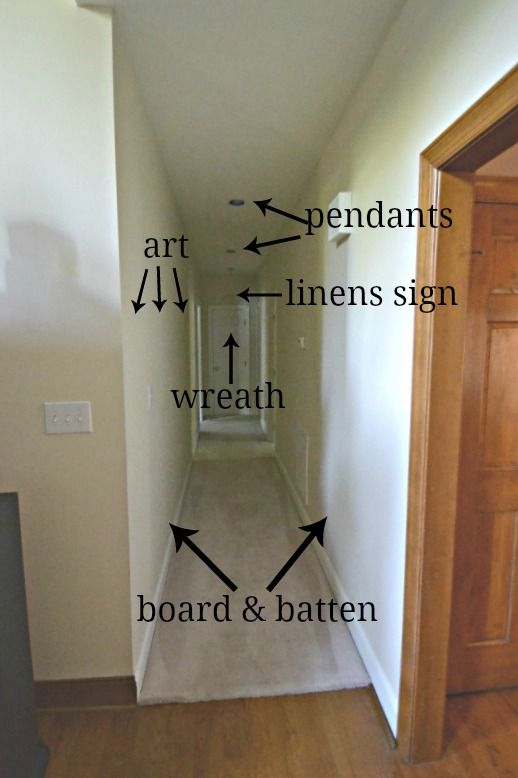 Long, Dark Hallway Makeover Before And After + 3 Free Printables | Worthing Court