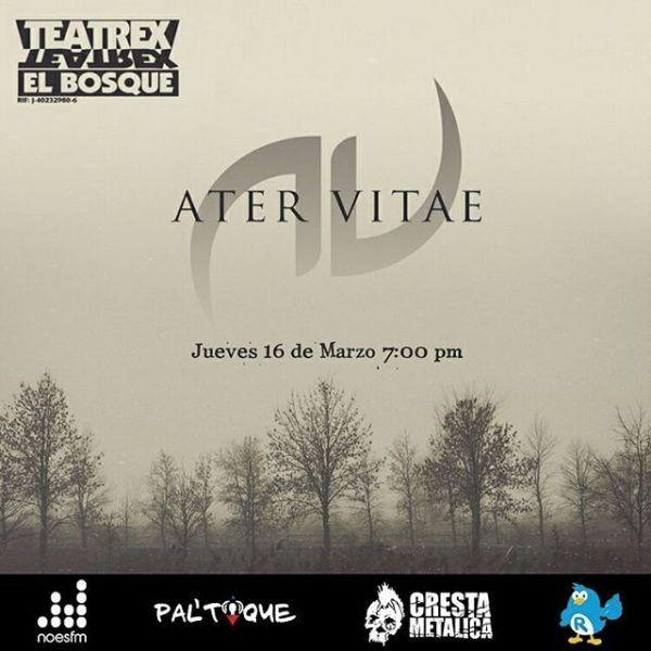 Ater Vitae presentan su propuesta de rock progresivo en el Teatrex El Bosque http://crestametalica.com/evento/ater-vitae-presentan-su-propuesta-de-rock-progresivo-en-el-teatrex-el-bosque/ vía @crestametalica