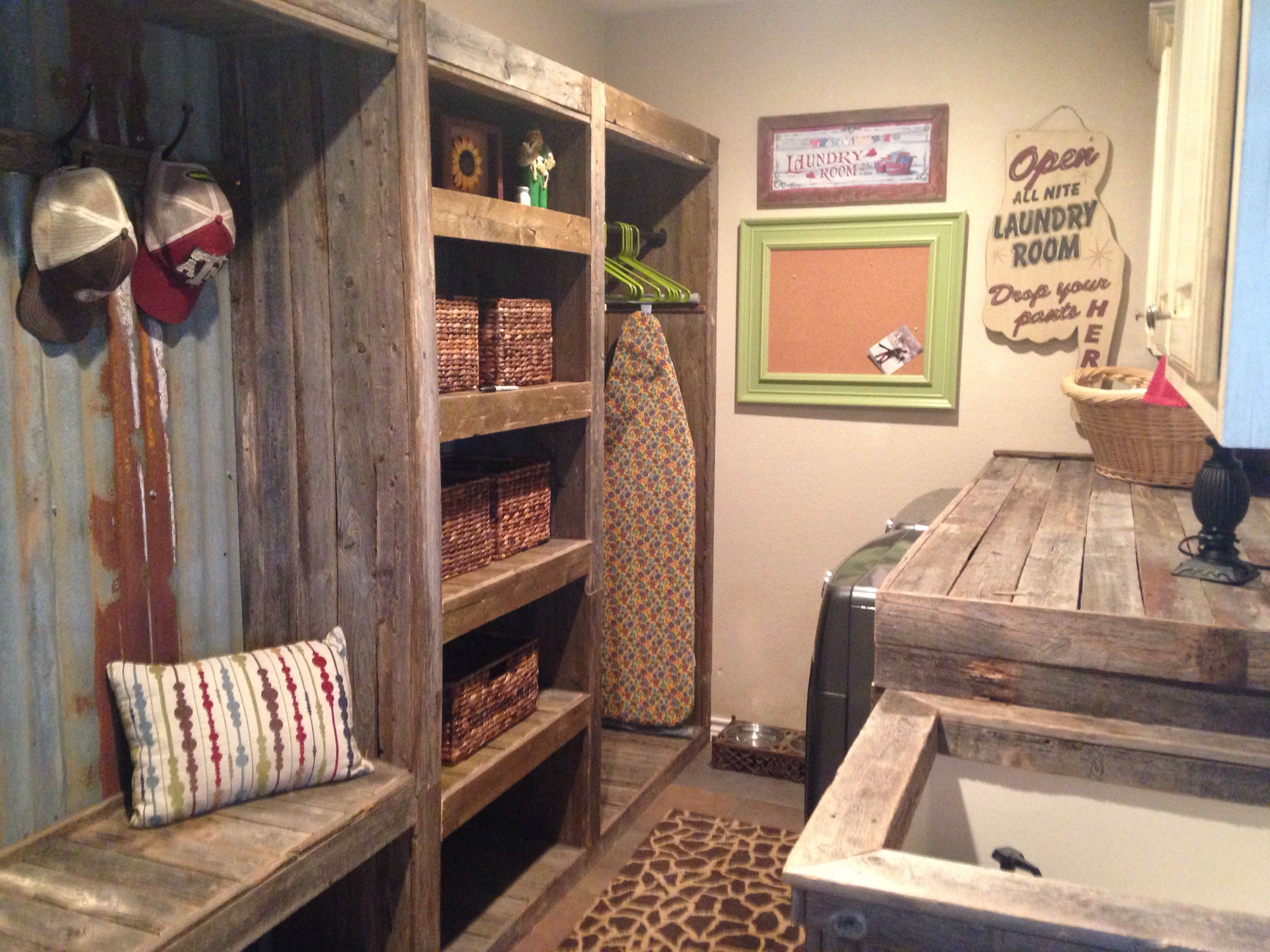 Rustic Laundry Room, LoVe! Part 86