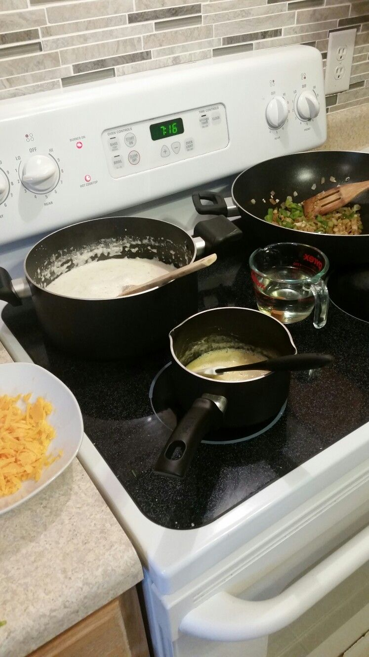 Got some shrimp and grits going for the fam tonight. Mmm!
