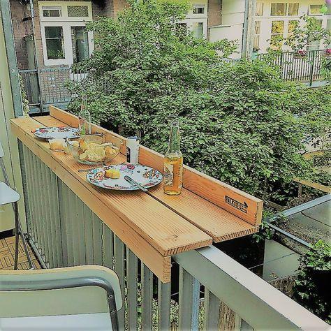 Fehlt Der Platz Fur Einen Tisch Auf Dem Balkon So Kann Es Gehen Balkon Bar Lagerstorage Lagerbox Selfst Balkon Bar Aufbewahrung Balkon Balkon