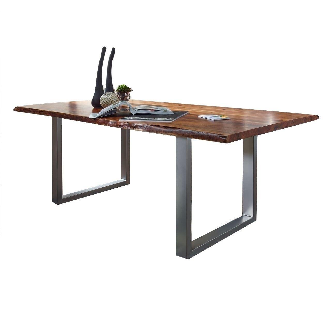 Table À Dîner En Bois D'acacia  À Partir De 795$  Room Ideas And Unique Slim Dining Room Tables 2018