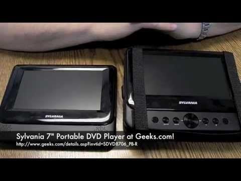 Sylvania 7 Portable Dvd Player At Geeks Com Portable Dvd Player Dvd Player Sylvania