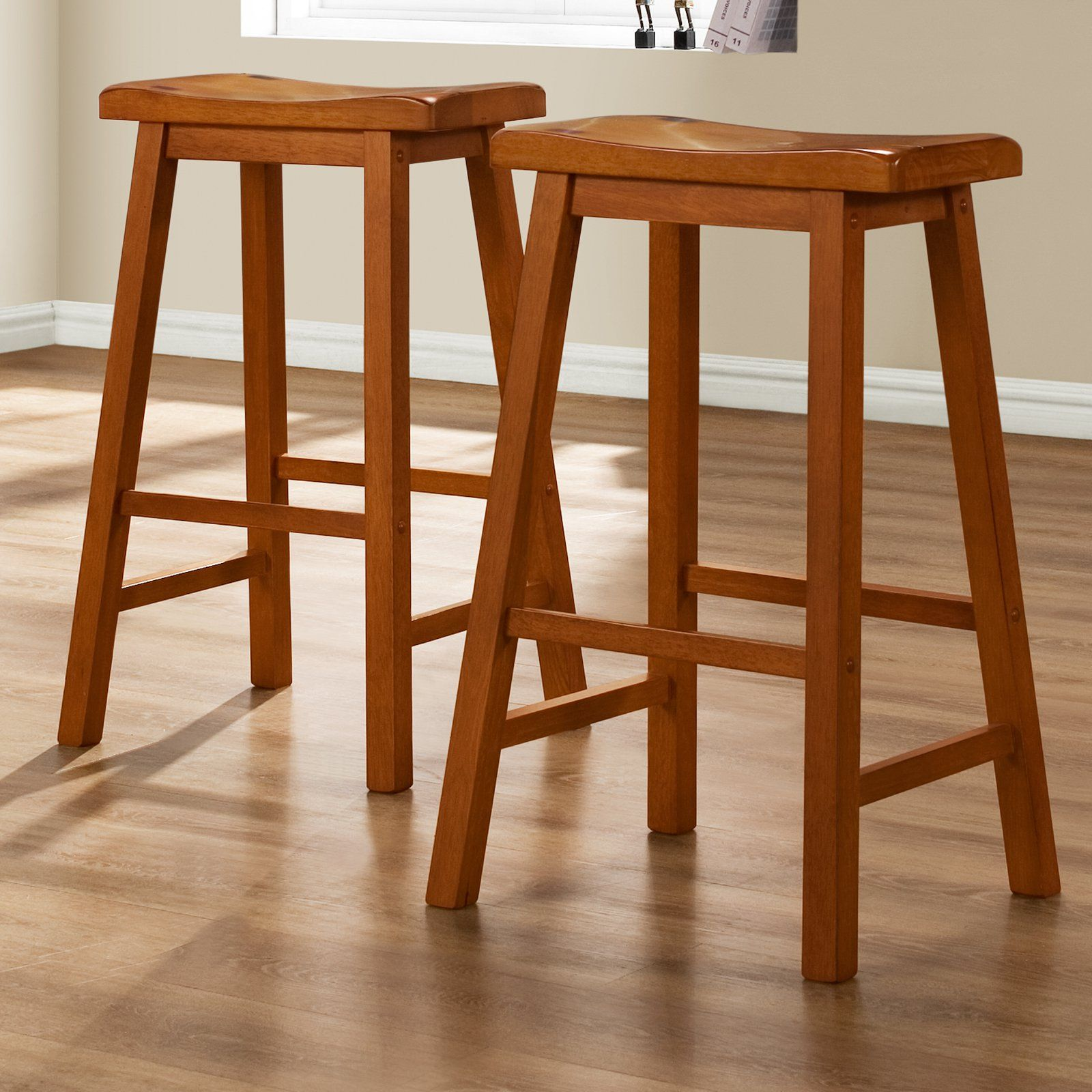 Weston Home 29 In Saddle Back Stool Oak 5302a 29 3a 2pc Oak Stool Oak Bar Stools Furniture Design Modern
