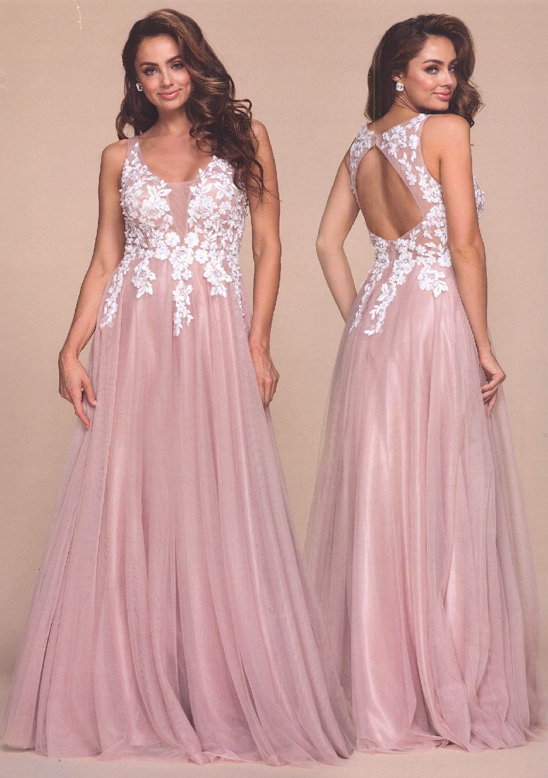 Prom Dresses Evening Dresses by ANABEL<BR>anaB048<BR> Floral beaded ...
